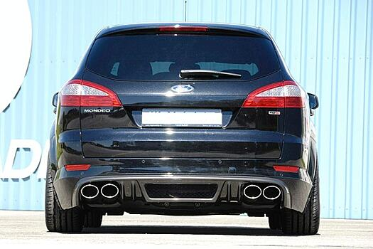 Юбка заднего бампера Ford Mondeo BA7 Carbon-Look RIEGER