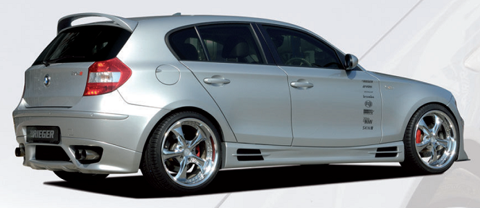 Пороги BMW 1er E87 Carbon-Look RIEGER