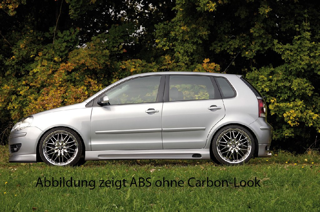 Пороги VW Polo 9N 10.01-03/ Polo 5 Typ 9N2/ GTI/ 00.06-/ Polo Mark V Typ 6R 04.09- Carbon-Look RIEGER