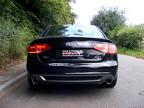 [CAT-BACK - Dual-outlet] ��������� ������� Milltek Sport ��� Audi A4 2.0 TFSI S line B8 (2WD and quattro manual-only) � 2008 �. GT100