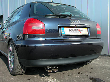[CAT-BACK - Non - Resonated] ��������� ������� (�������) Milltek Sport ��� Audi A3 1.8T 2WD 3 and 5 door � 1996 �.