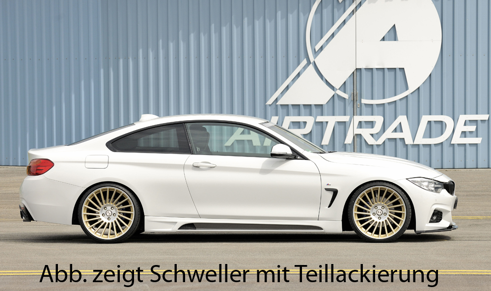 Пороги BMW 4er F32/ F33 Carbon look