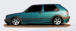 Пороги VW Golf MK 2 GTI 3-doors RIEGER