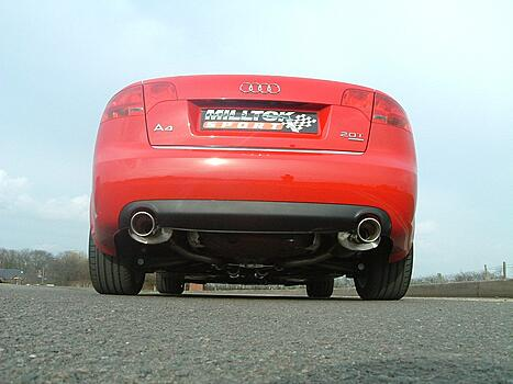 [CAT-BACK - 100mm Tailpipes] ��������� ������� Milltek Sport ��� Audi A4 2.0 TFSI B7 quattro and DTM � 2005 �.
