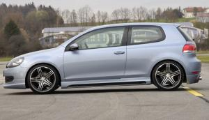 Пороги  VW Golf MK 6 / GTI RIEGER Carbon-Look