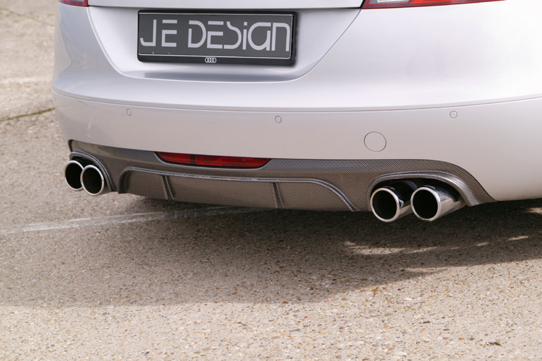 Диффузор заднего бампера Audi TT MK2 8J 09.06- (Exhaust Valance) Carbon-Look JE DESIGN
